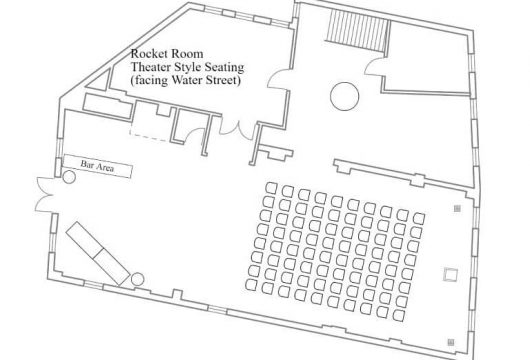 Theater Style Layout Facing Water Street